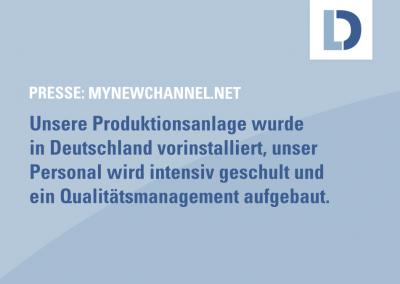 mynewschannel.net: Deutscher Mittelständler plant, im Dezember erste Covid-Schnelltest-Produktion in Subsahara-Afrika zu starten